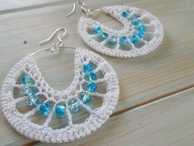 (crochet) How To Crochet Earrings version 1