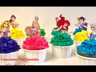 Cupcakes de Princesas de Disney