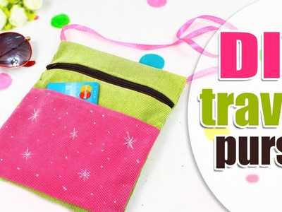 DIY 2 POCKETS TRAVEL PURSE BAG EASY TUTORIAL