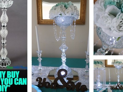 DIY Candle and Floral Holder - Glass Centerpiece Riser | Copycat Series