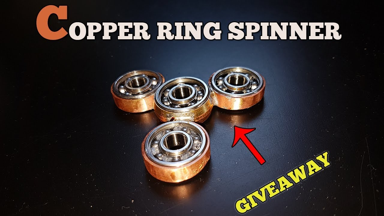 DIY Copper Ring Fidget Spinner