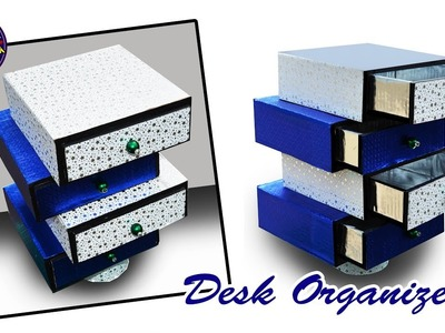 DIY Desk Organizer | Drawer Organizer from Card Board | Best out of Waste | Art with Creativity  223