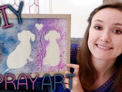 DIY Easy Spray Splatter Art