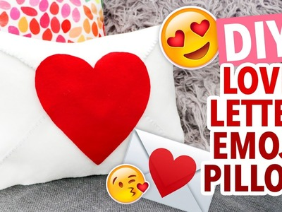DIY Heart Envelope Emoji Pillow ~ Valentine's Day Craft - HGTV Handmade