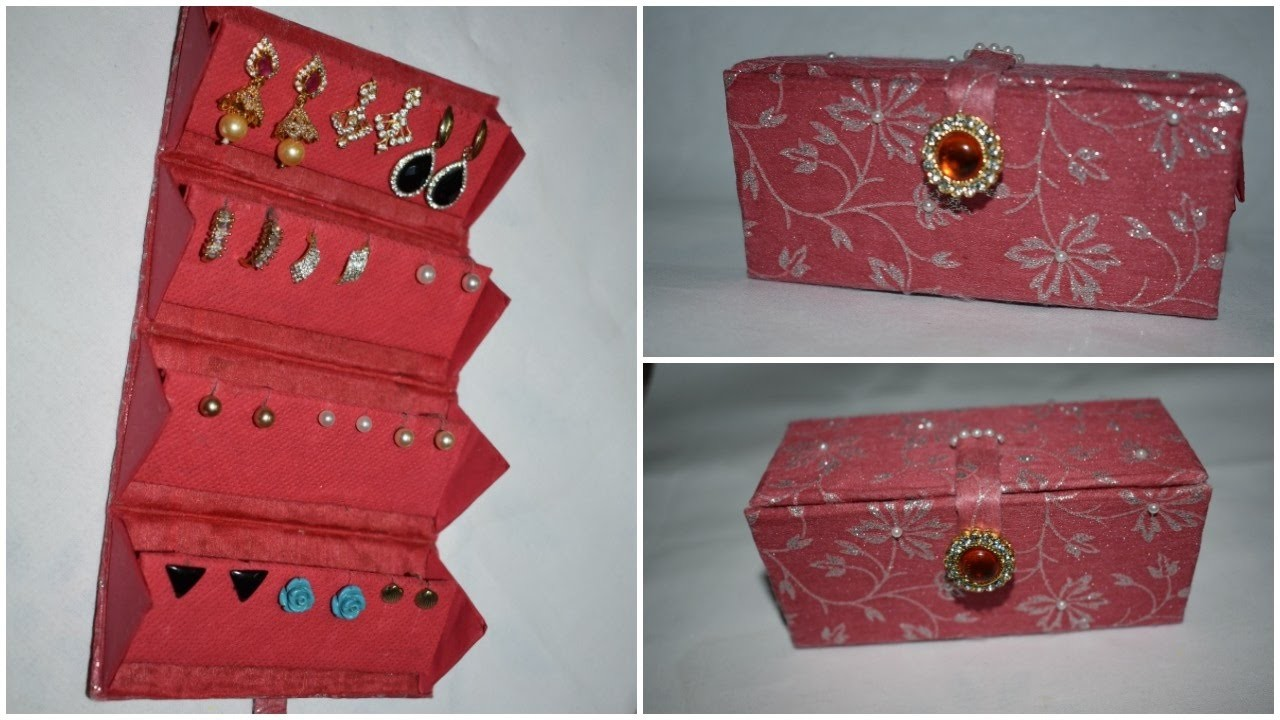 diy travel friendly earring holder jewellery organizer