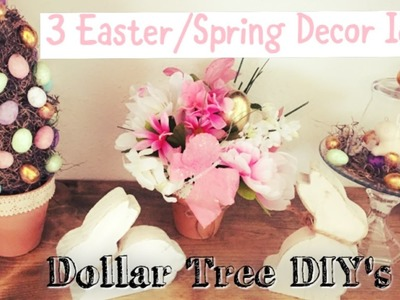Dollar Tree Easter.Spring Decor Ideas | Topiary, Cloches,Centerpiece | Momma from scratch