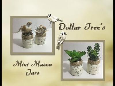 Dollar Tree's Mini Mason Jars DIY