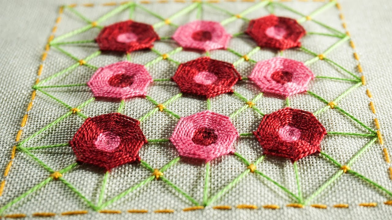 Hand easy embroidery designs by diy stitching