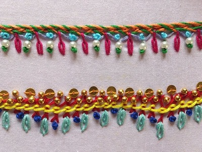 Hand embroidery designs. Hand embroidery stitches for beginners. part-8. Decorative stitches.
