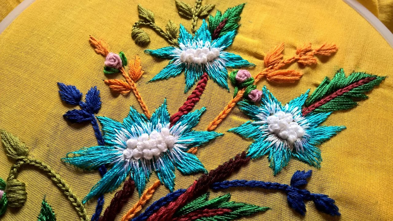 Hand Embroidery Hand Embroidery Flowers For Beginners