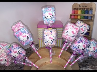 Hello Kitty Rice Krispie Treats (How To)
