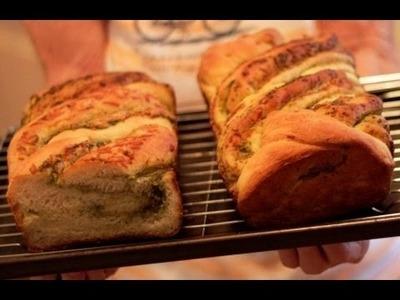 How To Bake Bread - Pesto Parmesan Bread Recipe w. Mama Buck