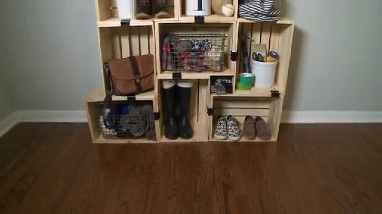 How to Build a Shelving Unit with Crates