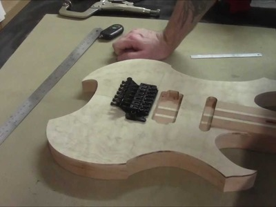 How to Build an Electric Guitar-Video 10-Controls Layout and Drilling
