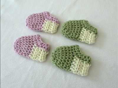 How to crochet basic baby shoes. booties for beginners