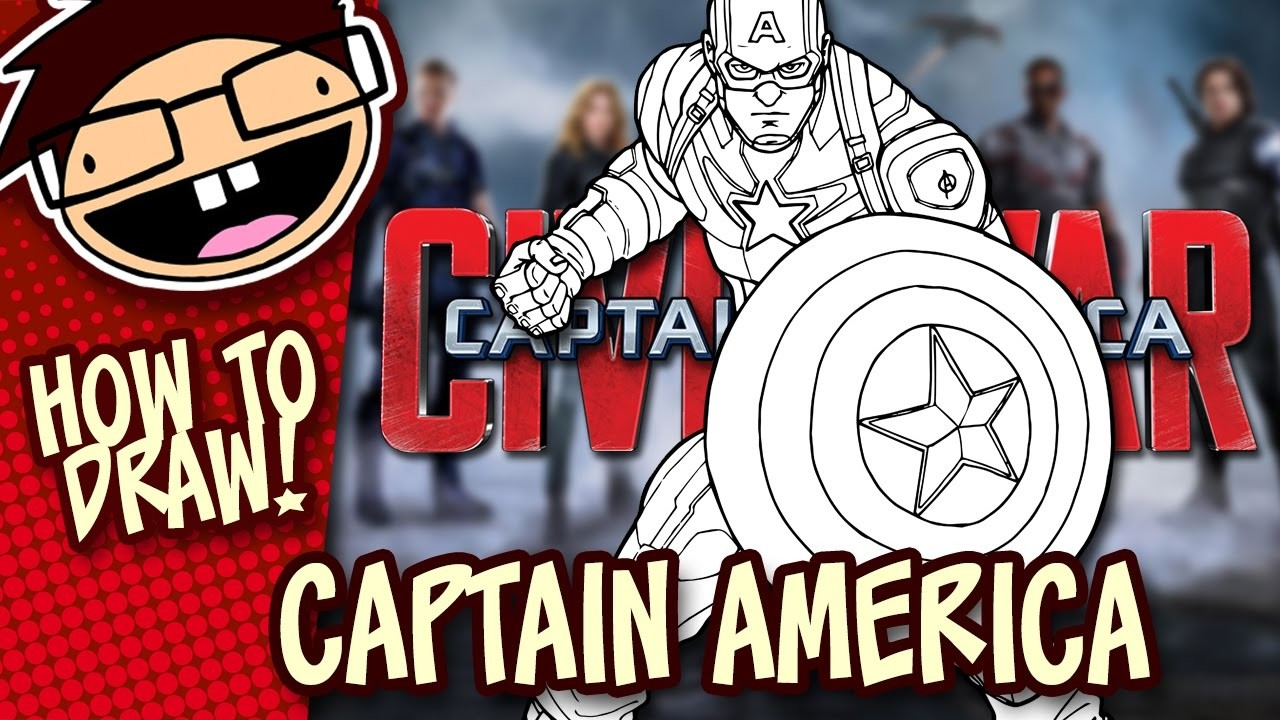 How to Draw CAPTAIN AMERICA (Captain America: Civil War) Narrated Easy Step-by-Step Tutorial