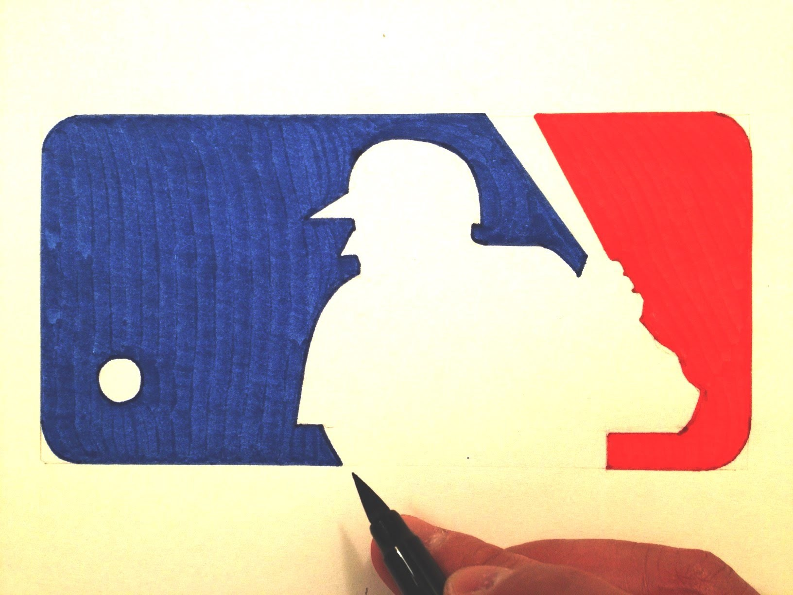 How to Draw the MLB Logo
