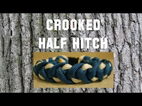 How to make a Crooked Half Hitch Paracord Bracelet Tutorial (Paracord 101)