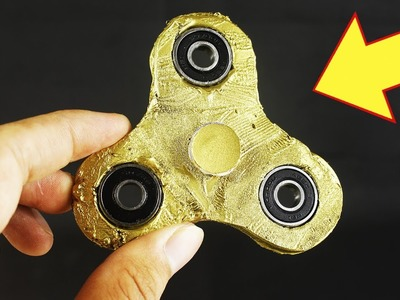 How to Make a Gold Fidget Spinner - DIY Craft - Handmade - Creative with Spinner