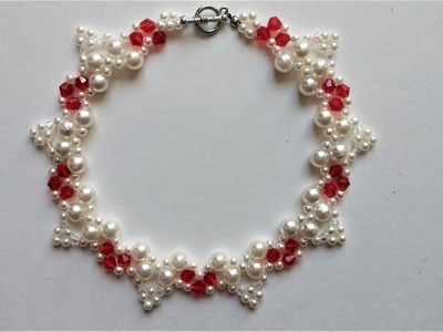 How to make an elegant necklace. Beading tutorial.