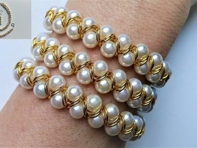 How to make DIY gorgeous jewelry set in 10 MINUTES. Elegant jewelry set for elegant outfit