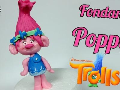 How to make fondant Poppy cake topper tutorial (Trolls)