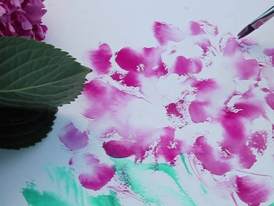 HOW TO PAINT HYDRANGEAS IN WATERCOLOR