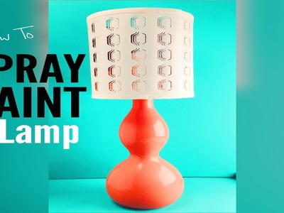 How To Spray Paint A Lamp | Thrifted Decor Redo  |  Ep: 15