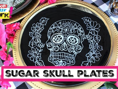 How to: Sugar Skull Plates