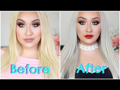 How To Transform Your Hair Extension | From Blonde To Silver.White