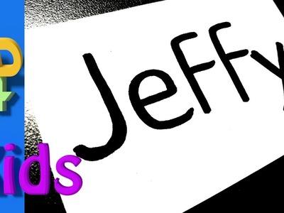How to turn words into cartoon very Easy ! JEFFY - SML - wordtoon #55