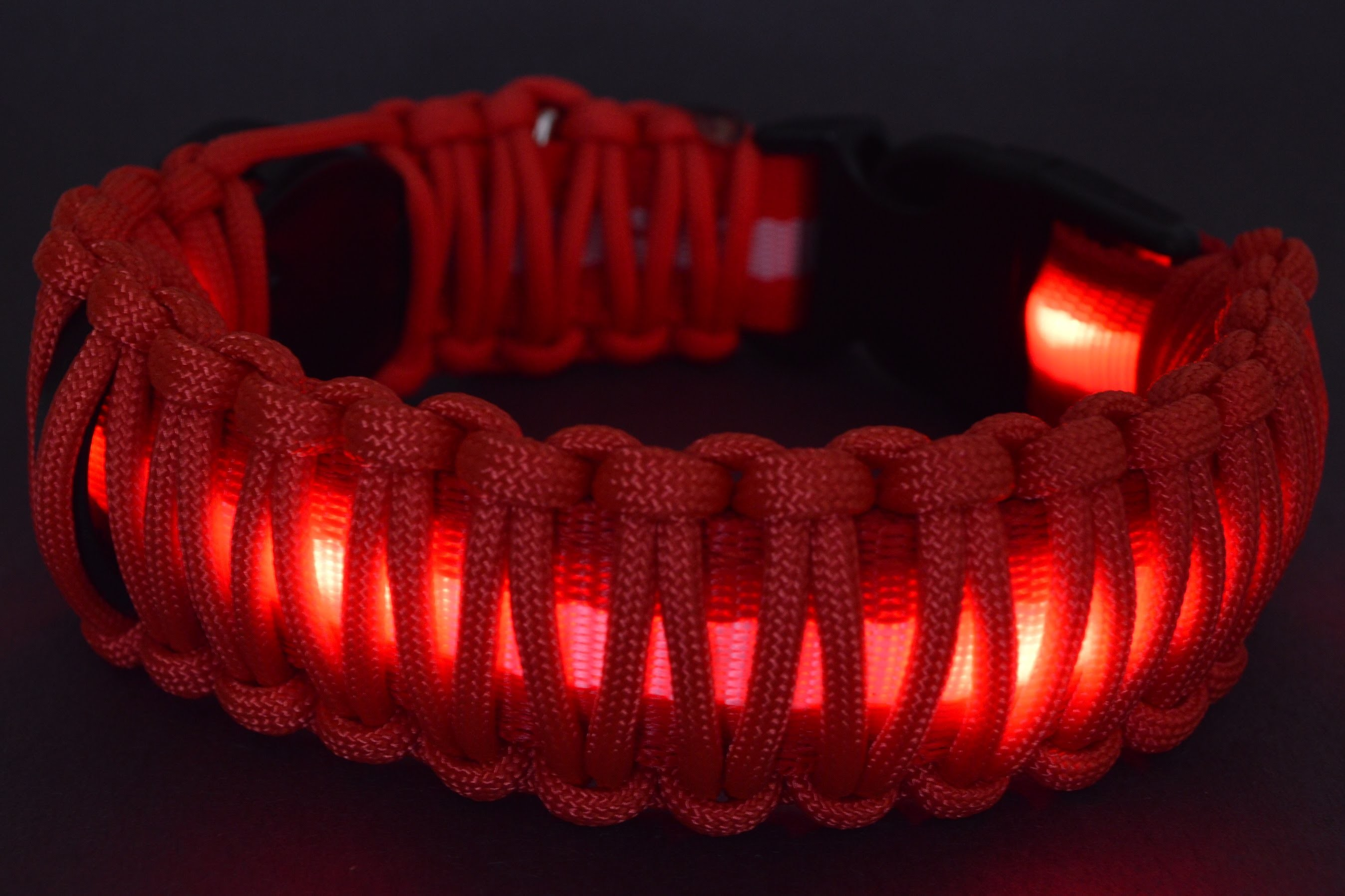 How to Wrap an L.E.D. Dog Collar with Paracord - BoredParacord