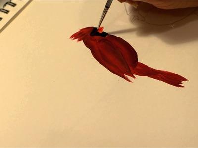 Learn How to Paint a Cardinal bird