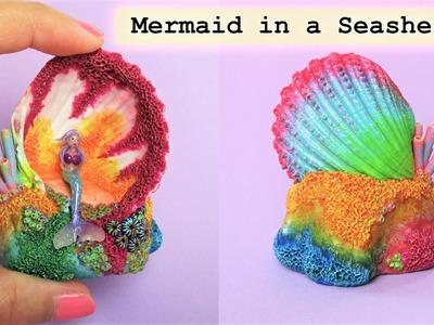 Mini Mermaid In A Seashell, Polymer Clay Tutorial || Maive Ferrando