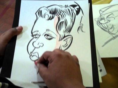 NYC Caricature Artist Drawing Live at Long Island Elementary School