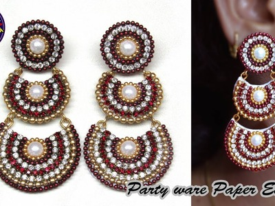 Party wear paper Earring | Jewelry | Made with Paper | Art with Creativity 212