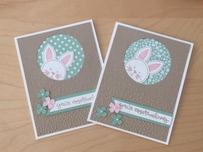 Peek-a-Boo Easter Bunny Card Tutorial