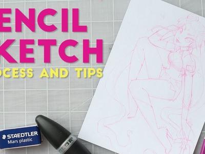 Pencil Sketch Process and Tips: Punk Sailor Moon