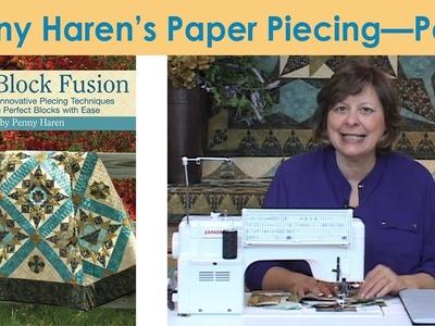 Penny Haren's Paper Piecing - Part 1