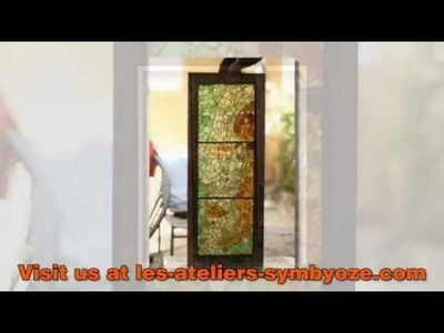Sea Glass Artist. Creation of Sea Glass Lamps and Murals . Sea Glass Artist in Africa
