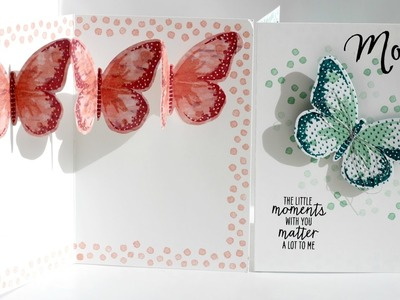 Stampin' Up! Watercolour Wings Pop Up  Mother's Day Card