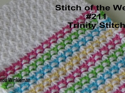Stitch of the Week #211 Trinity Stitch (Free Pattern at the end of video)