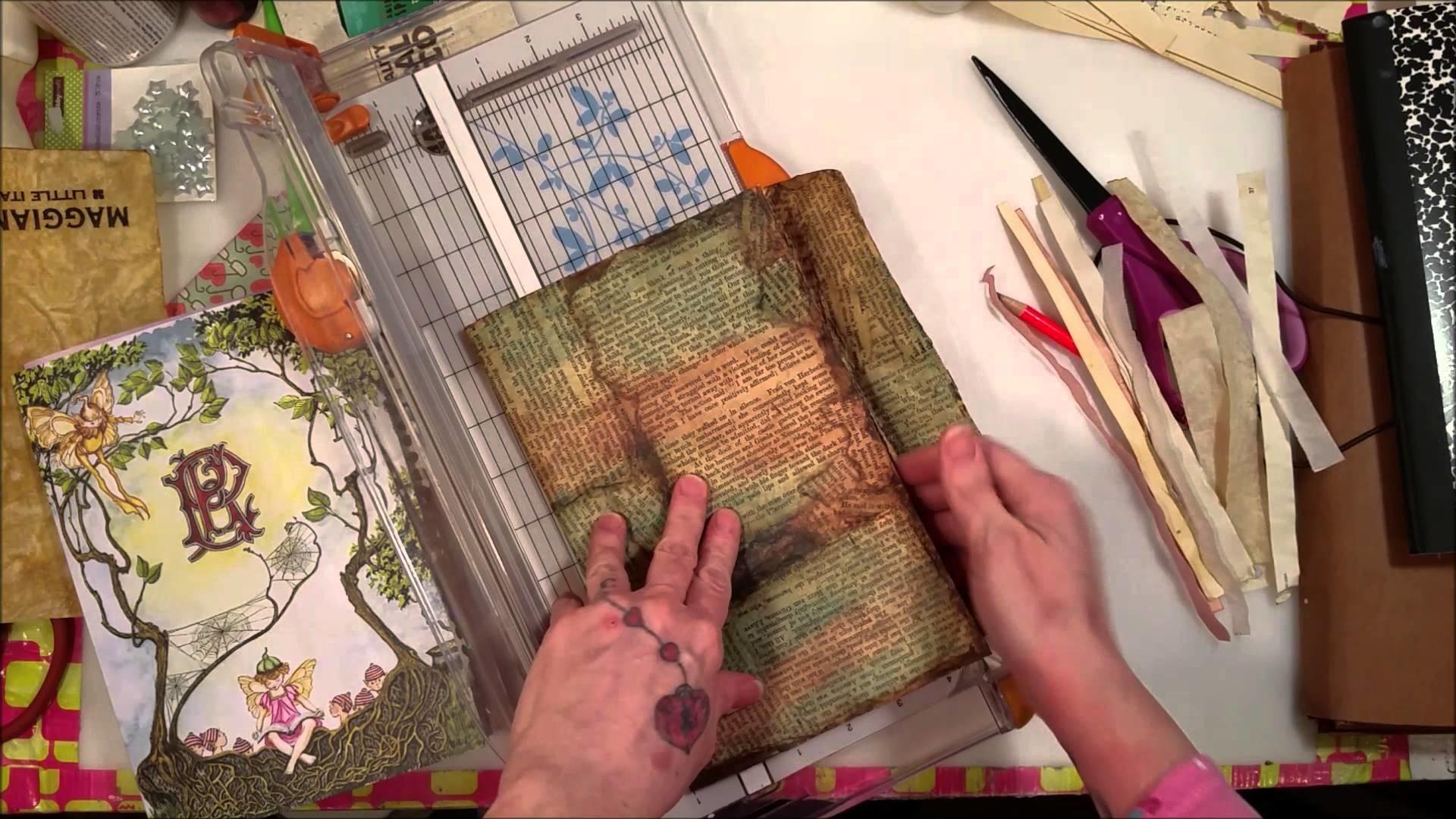 Tutorial: Making a Vintage Envelope Junk Journal - Part 2: The Signatures