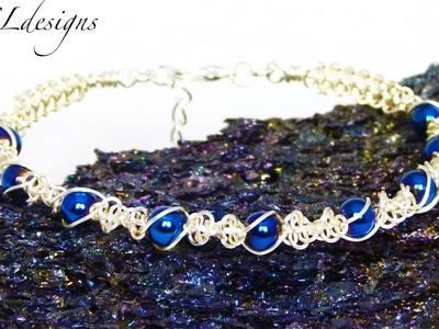 Twisted wire macrame bracelet