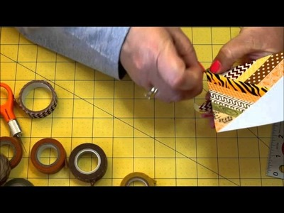 Use your WASHI TAPE to make cool cards! Also, trick with scor-tape S1E2