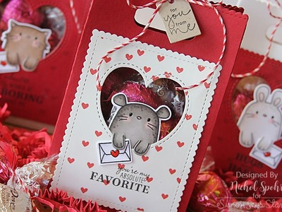 Valentine's Favor Bags with Clear Window