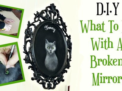 WHAT TO DO WITH A BROKEN MIRROR    SpeedPainting & DIY With ReeRee