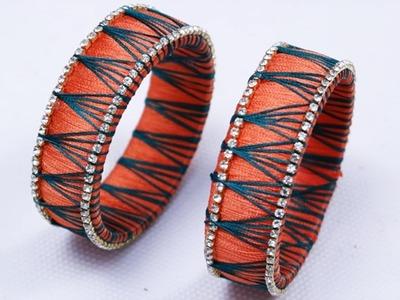 Zig Zag String Silk Thread Bangles making video | Indian Silk thread bangles | Party wear bangles