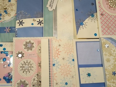 10 cards 1 kit | SSS January 2017 cards kit | ''Snow much thanks''