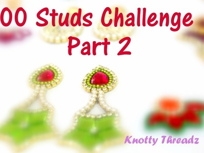 100 Studs Challenge Taken by Knotty Threadz | Part 2 | Made out of Paper and Canvas